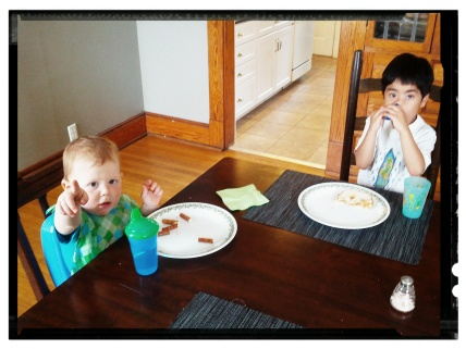 lunchtime with Silas
