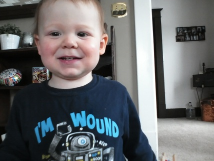 18 mos - somewhere between baby and little boy