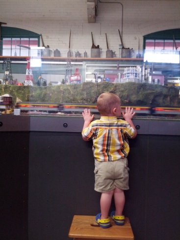 watching the trains